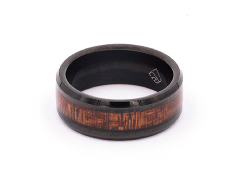 Gold Brushed Tungsten Carbide Ring