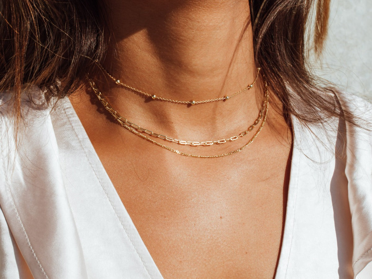 Bold Belcher Chain Necklace in 14K Gold