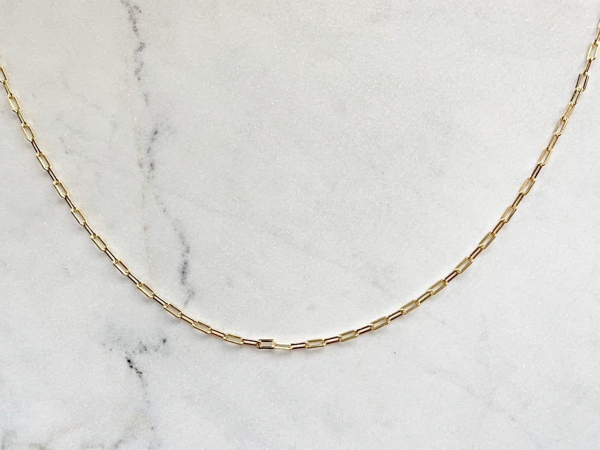 "Bold Belcher Chain Necklace in 14K Gold ( 16"")"