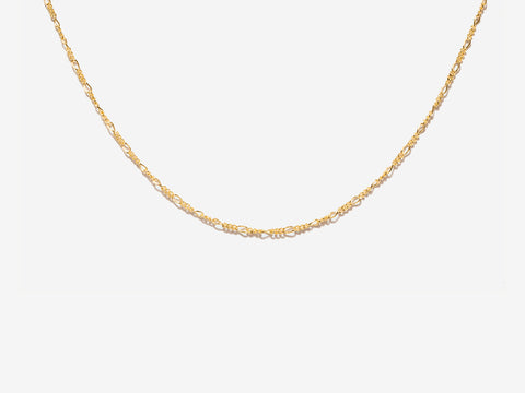 Chunky Figaro Chain Necklace in 14K Gold