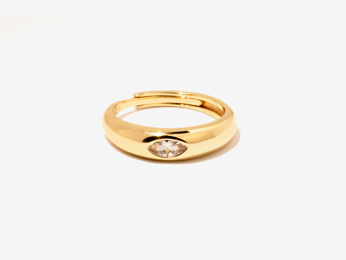 Chong Dome Signet Ring in 14K Gold