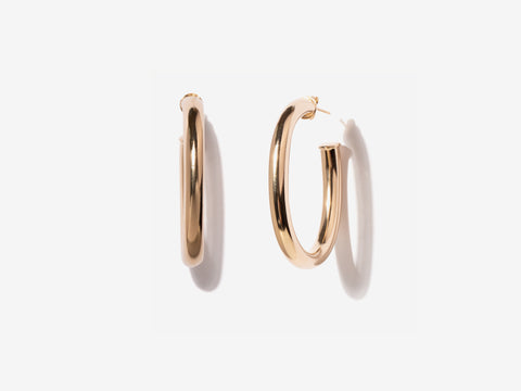 Classic 14K Gold Filled Hoop Earrings