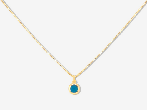 December Birthstone Turquoise 14k Gold Necklace