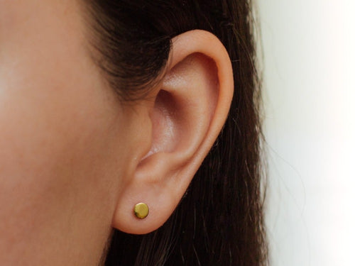 Dot Stud Earrings in 14K Gold
