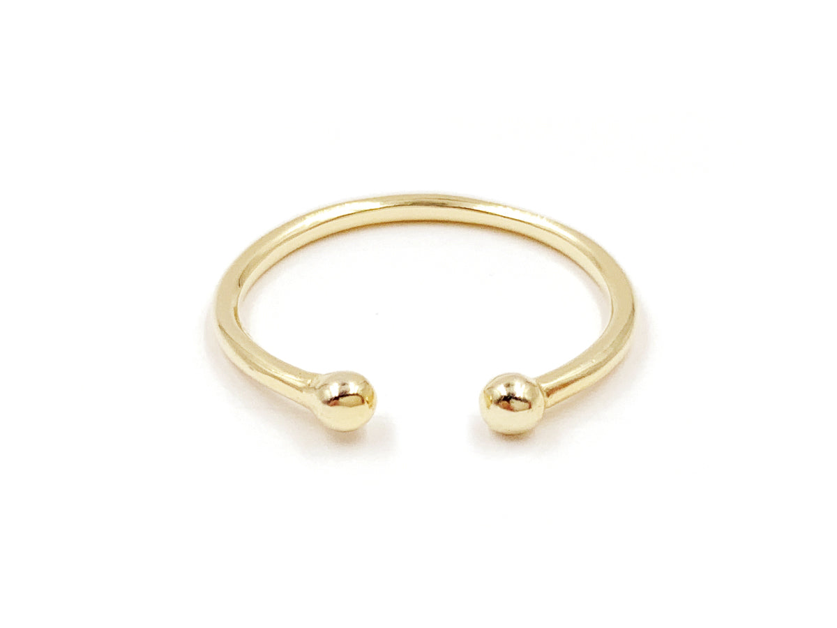 Double Dot 14k Gold Ring