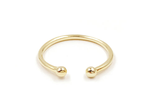 Spike 14k Gold Hoop Earrings