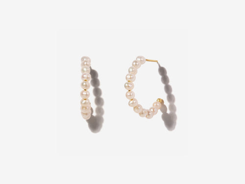 Elle Pearl Hoop Earrings