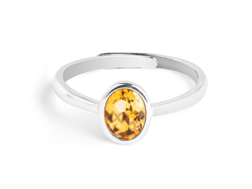 Ellipse - Citrine Sterling Silver Ring in Columbus Ohio