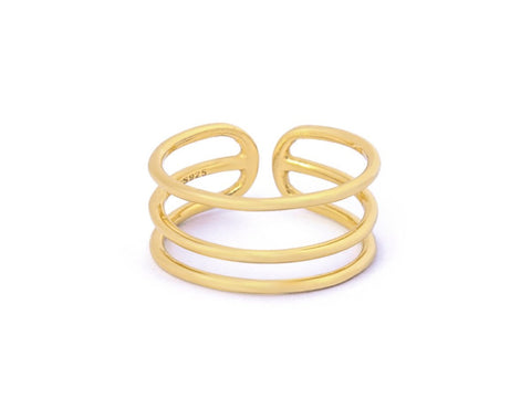 Inception Double Layer 14k Gold Ring