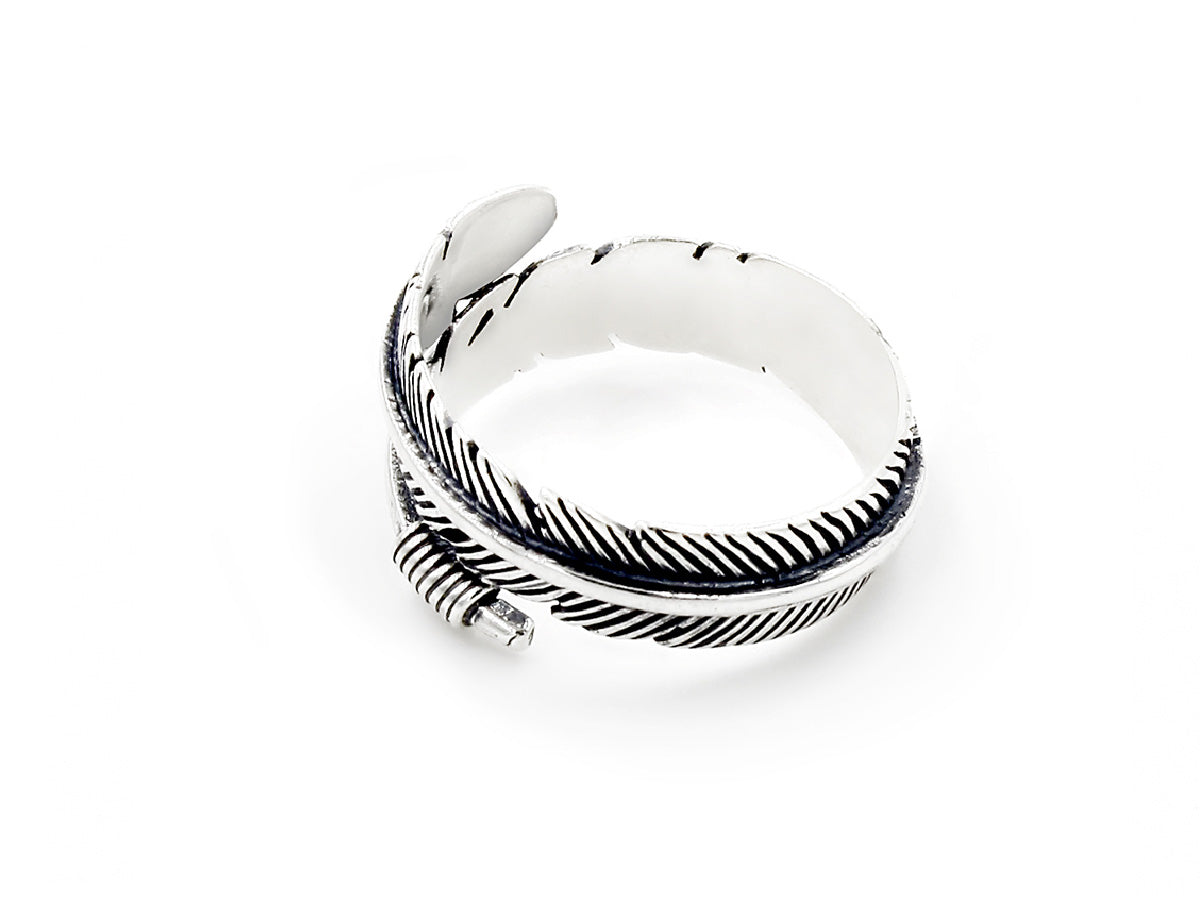 Feather Sterling Silver Wrap Ring in Columbus Ohio