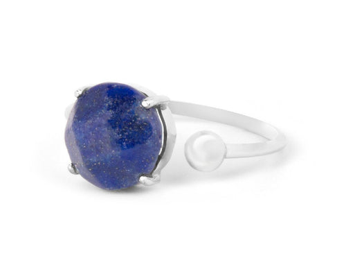 Globe Lapis Sterling Silver Ring