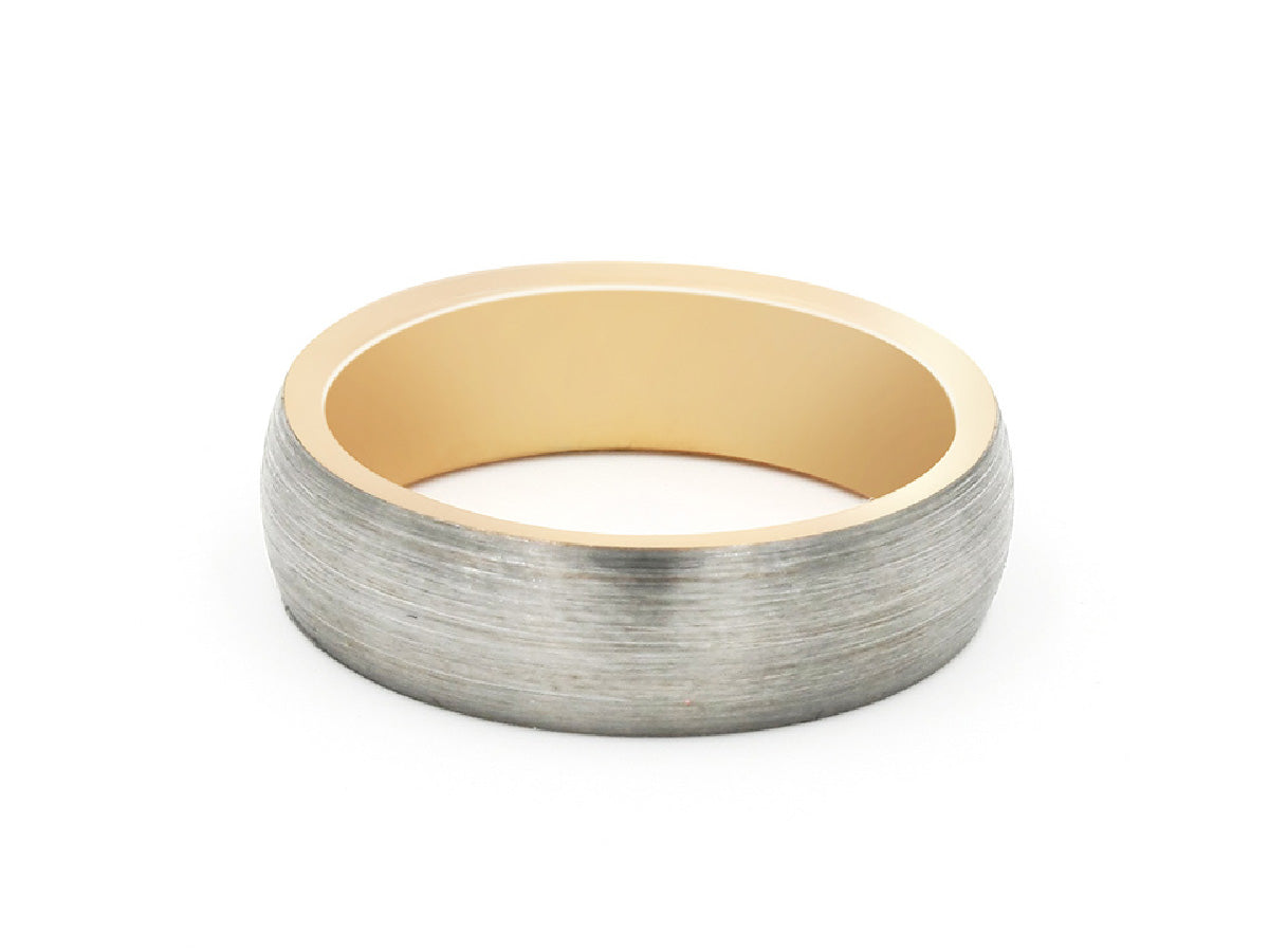 Gold Brushed Tungsten Carbide Ring in Columbus