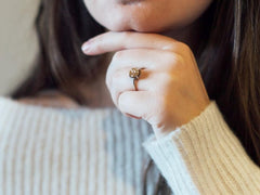 Grotto Gold Druzy Ring