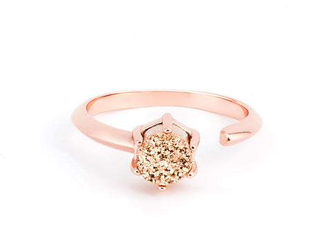 Virtue Garnet & Rose Gold Ring
