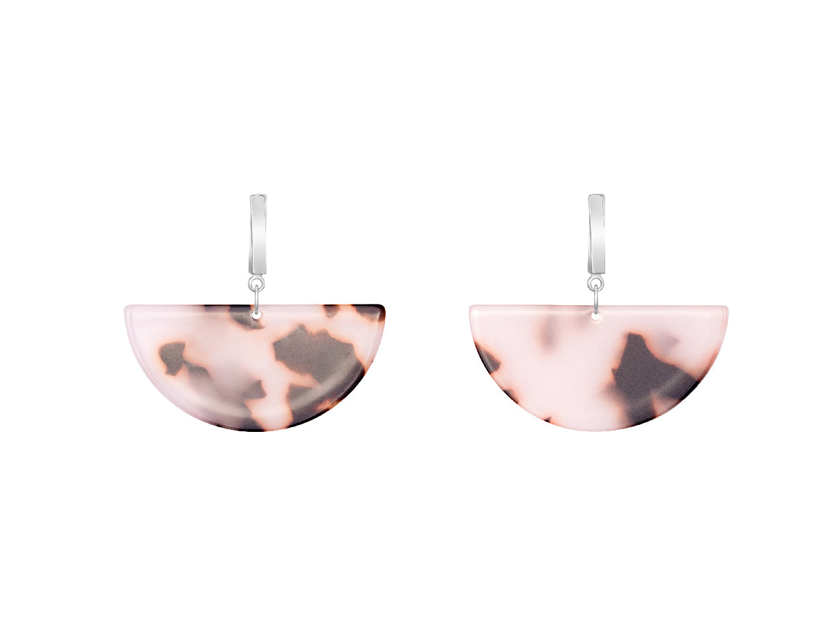 Half Moon Acrylic Drop Earrings