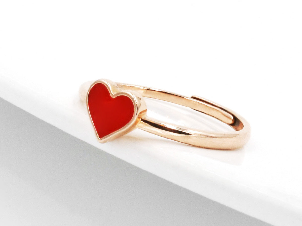 Heart Sterling Silver Rose Gold Ring in Columbus ohio