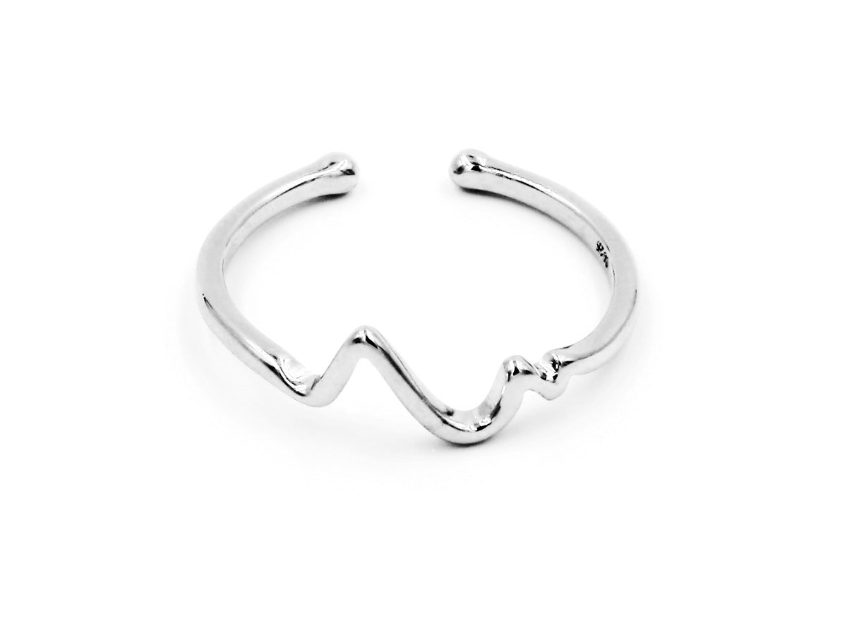Heart Beat Sterling Silver Ring