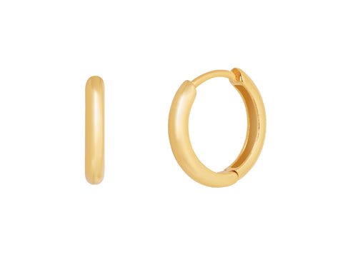 Tiny Hoop Earrings in 14k Gold