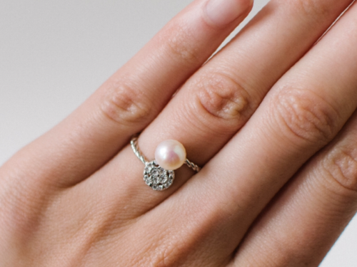 Moon & Star Pearl Ring Store