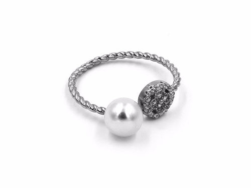 Freshwater Pearl Sterling Silver Wrap Ring in Columbus Ohio