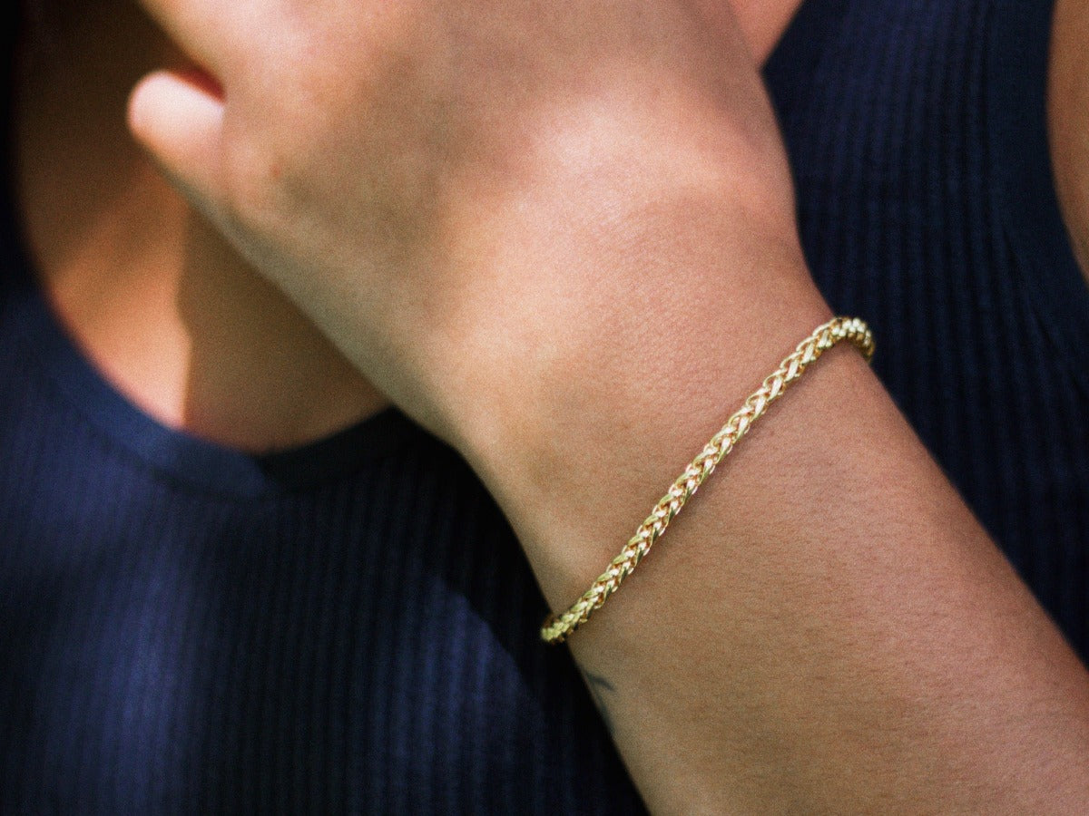 Spiga Chain Bracelet in 14K Gold