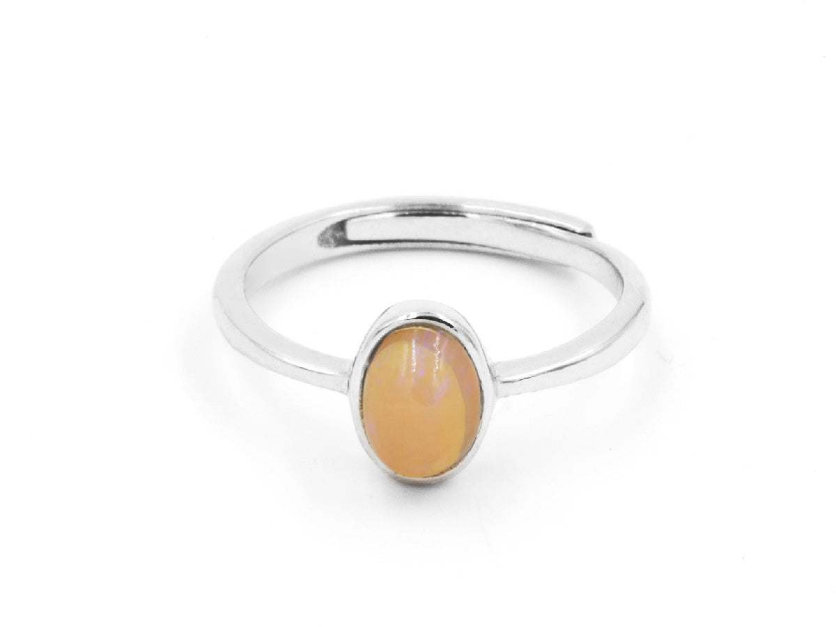 Fire Opal Sterling Silver Ring in Columbus Ohio