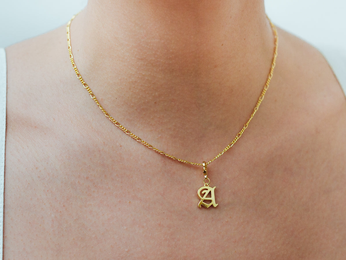 Initial Charm Necklace in 14K Gold