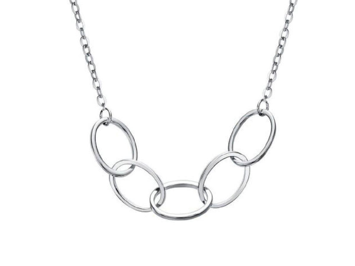 Interlocking Five Circles - Sterling Silver Necklace