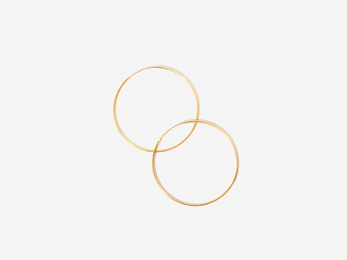 Large Thin 14K Gold Hoop