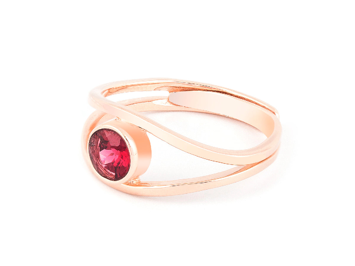 Levitation Garnet Rose Gold Ring