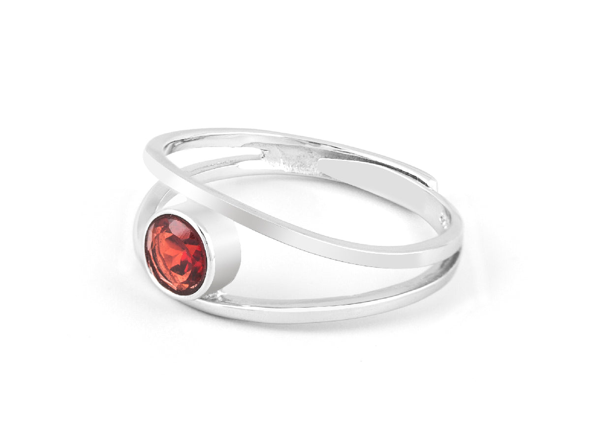Levitation Garnet Sterling Silver Ring