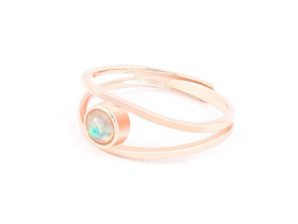 Levitation Opal Rose Gold Ring