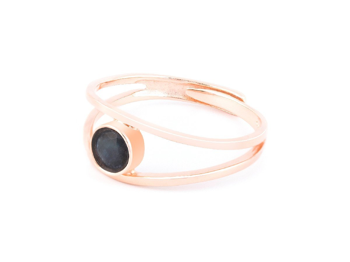 Levitation Sapphire & Rose Gold Ring