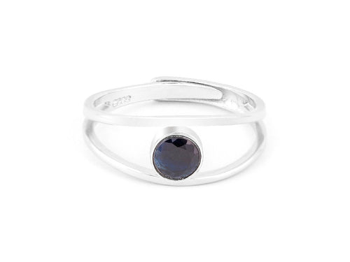 Levitation Sapphire Sterling Silver Ring