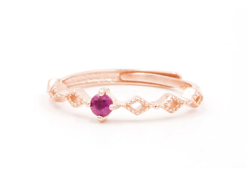 Linked - Ruby Rose Gold Ring