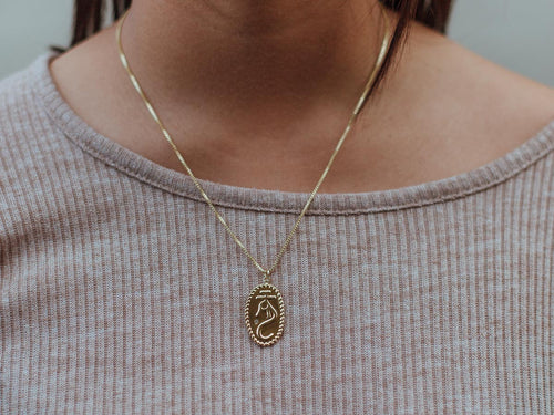 Loong 14K Gold Charm Necklace