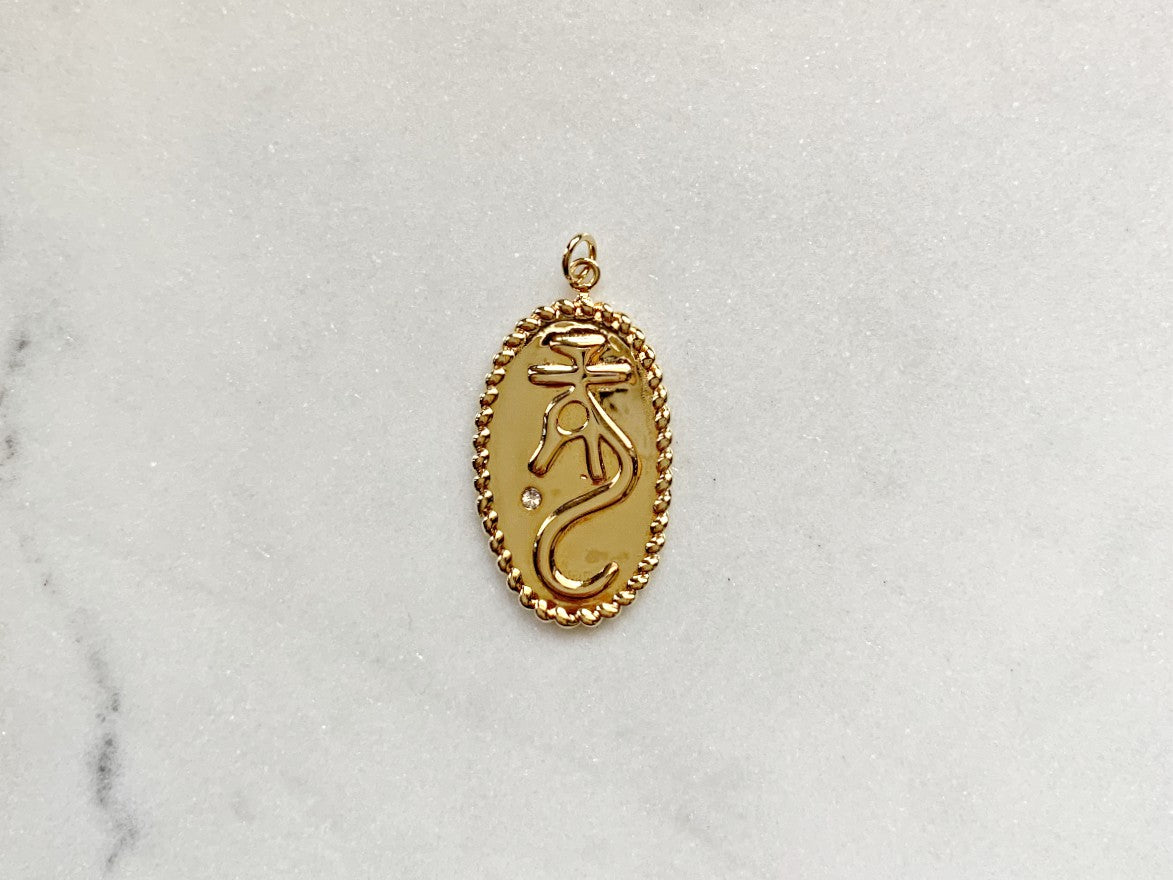 Loong Dragon Charm in 14K Gold