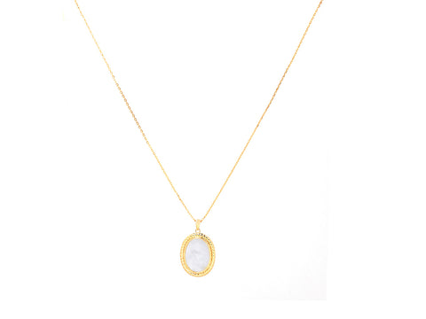 Tiny Baguette Black Onyx 14K Gold Necklace