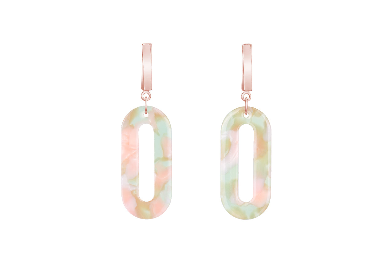 Marine Acrylic Drop Earrings