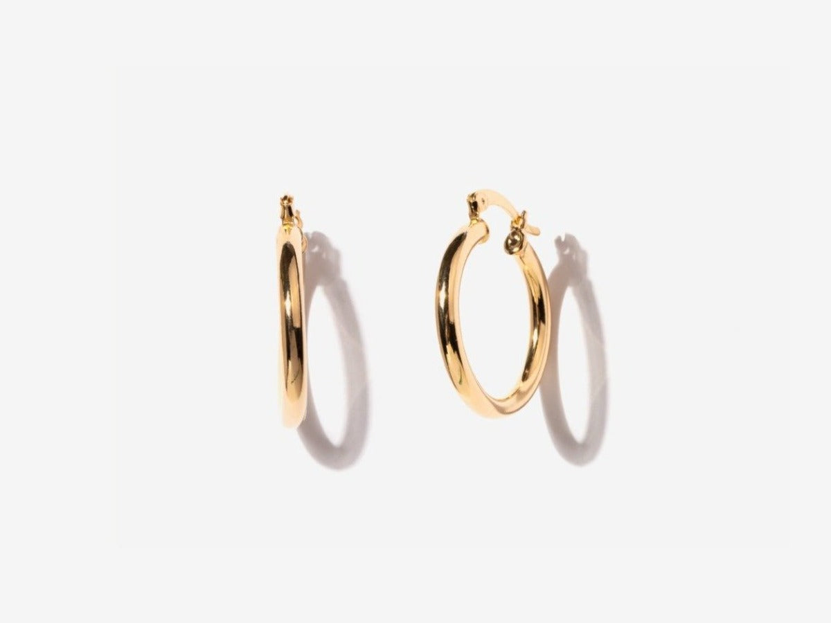 Midi 14K Gold Filled Hoop Earrings