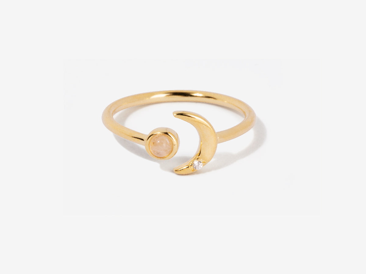 Ming Moonstone 14K Gold Ring