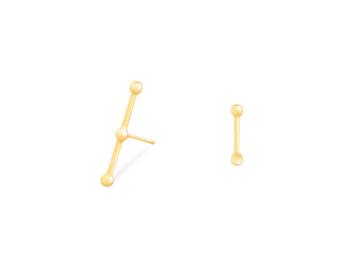 Mix-and-Match T Stud Earrings