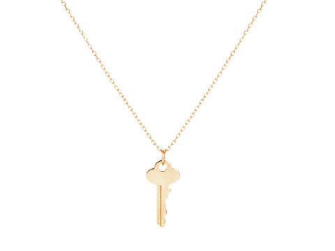 Crescent Moon 14k Gold Charm Necklace