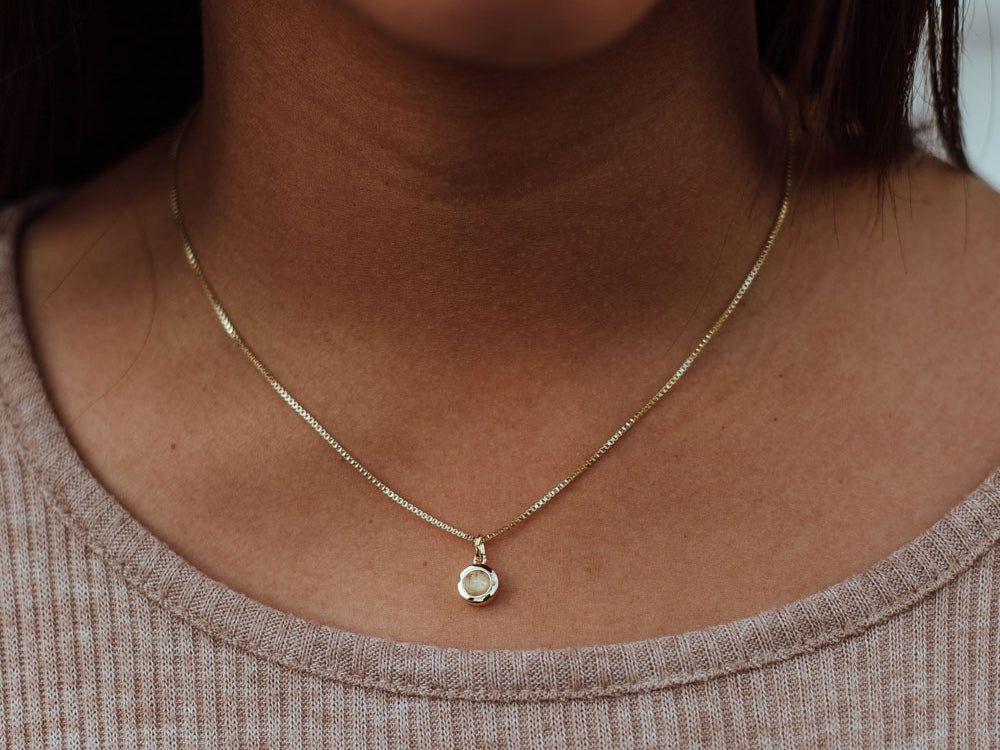 November Birthstone Citrine 14k Gold Necklace
