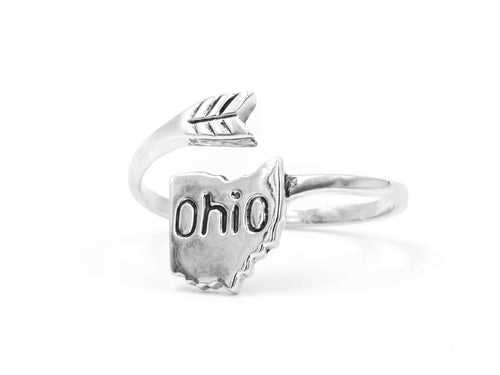 Ohio - Sterling Silver Wrap Ring