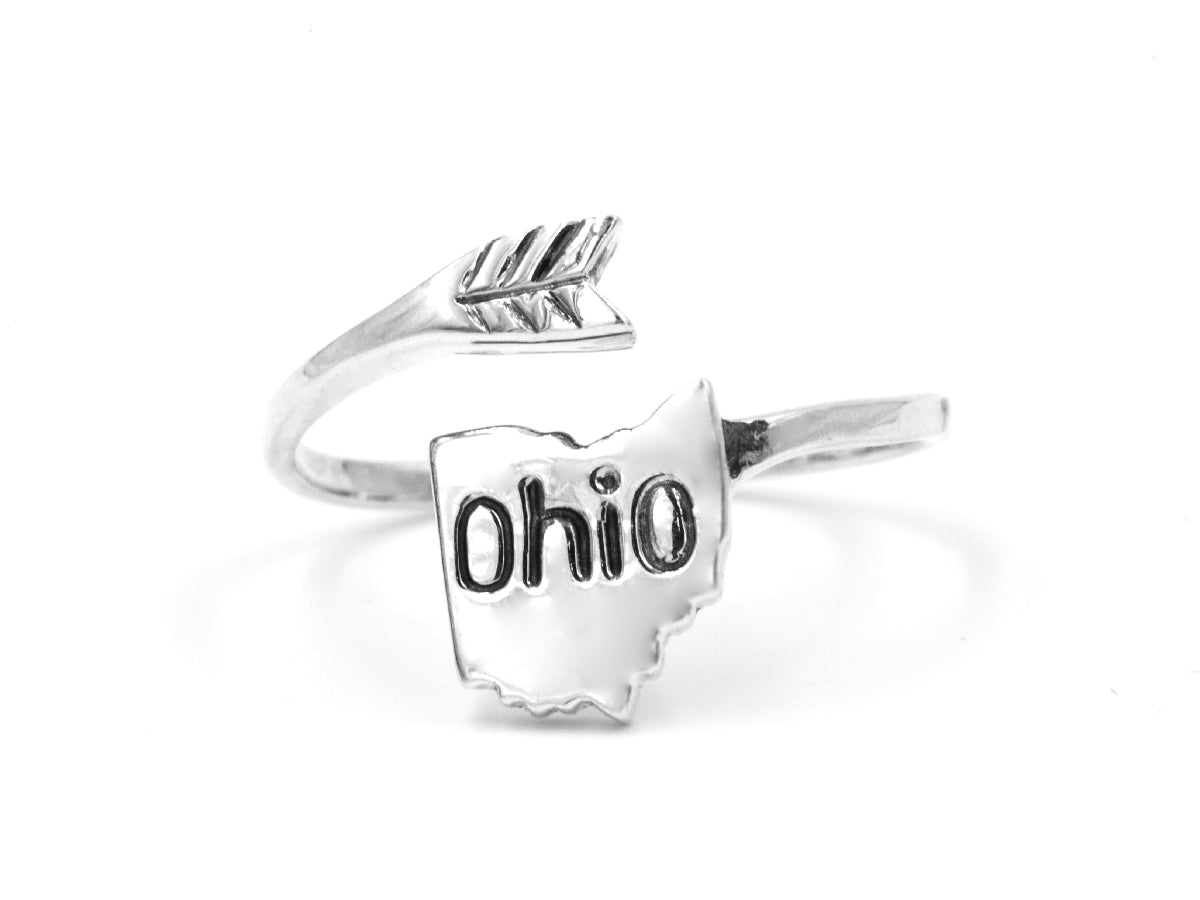Ohio - Sterling Silver Wrap Ring in Columbus Ohio