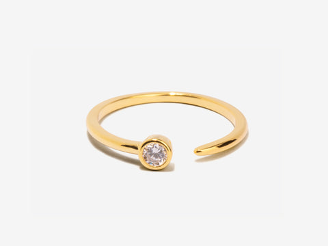Serpentine Garnet 14K Gold Wrap Ring