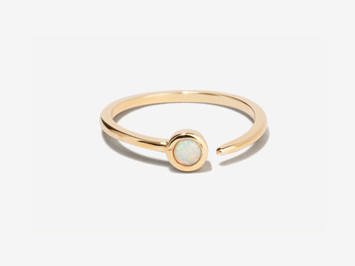 Orbit Opal 14k Gold Ring