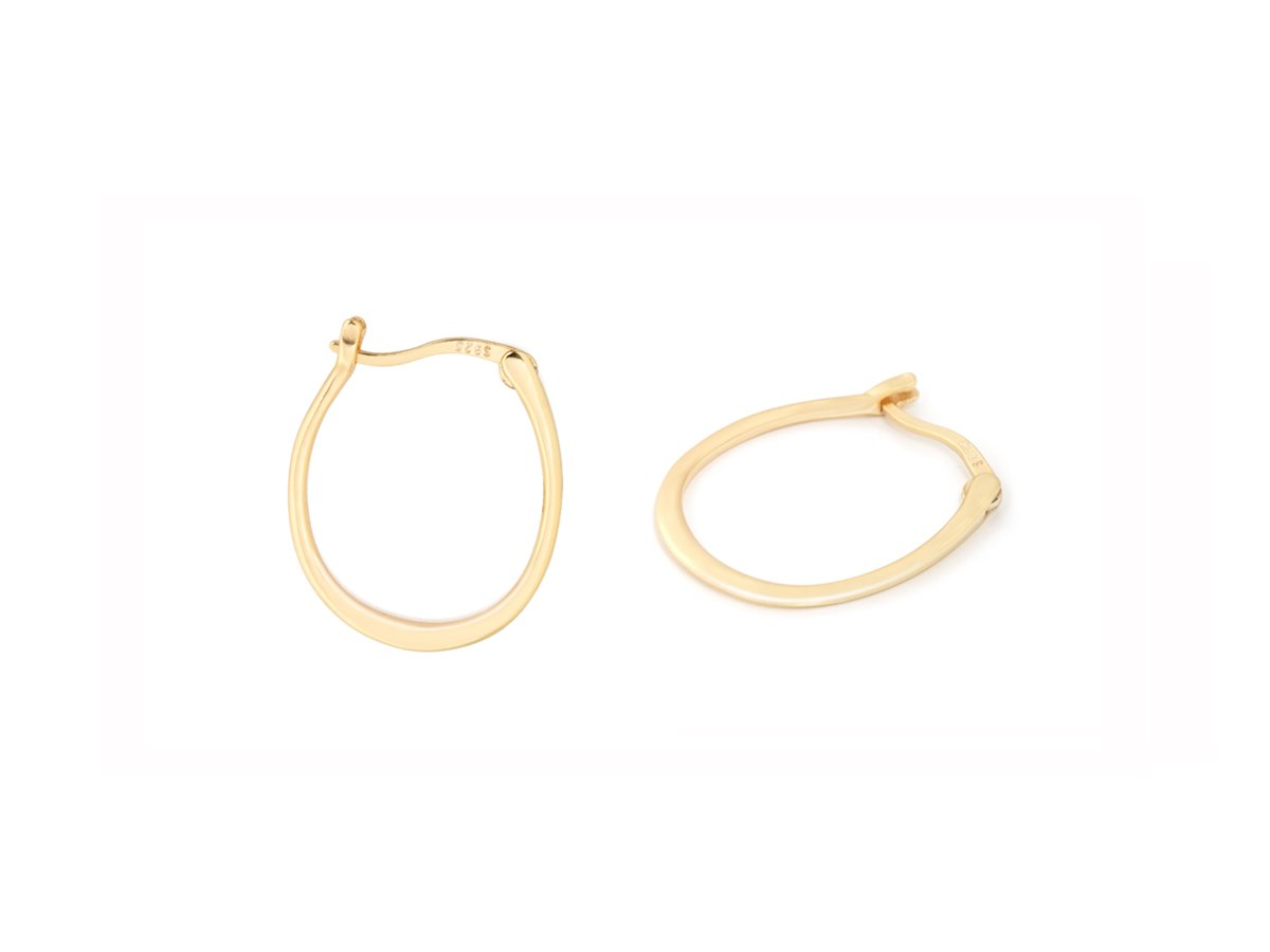 Oval Hoop 14k Gold Earrings