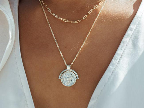 Roman Arc Coin 14k Gold Necklace.jpg